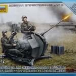 Zvezda's FLAK-38, kit 6117 - box top