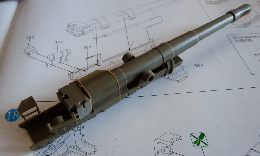Bronco 1/35 SU-152 Early, kit CB35113 ML-20S barrel mounted on the cradle