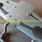 Eduard 1/48 Bf-109G-6, wing center and wheel well cutouts