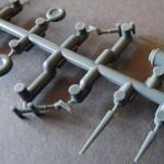 Eduard 1/48 Bf-109G-6, tail wheels, legs, antennae