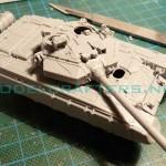 Building Zvezda 1/72 T-90, part 1