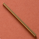 Machined brass barrel for 107mm ZiS-6 gun